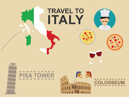 pizza place: Italy Infographic