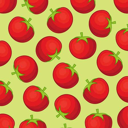 comiendo fruta: Antecedentes de tomate Vectores