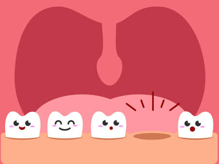 Toothless illustration 矢量图像