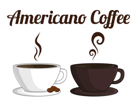 Americano Coffee Vector Illustration