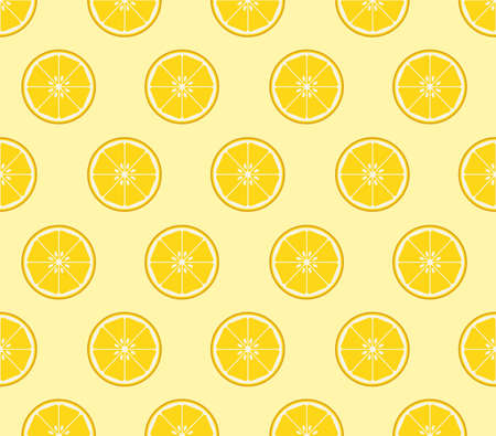 Lemon slices background Stock Vector - 53860317
