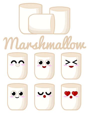 Marshmallow character Ilustração