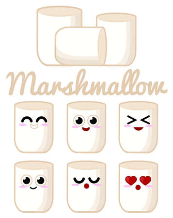 Marshmallow character Illustration