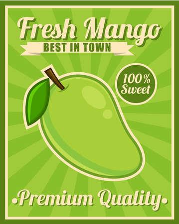 mango slice: Mango Poster