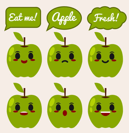 apple character: Green Apple character