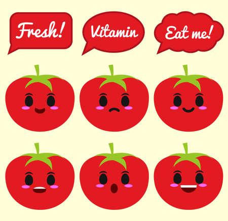 Tomato character 矢量图像