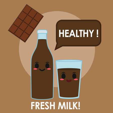 Chocolate milk illustration 矢量图像