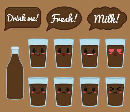 Chocolate milk character