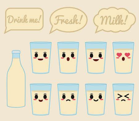 Soy milk character 矢量图像