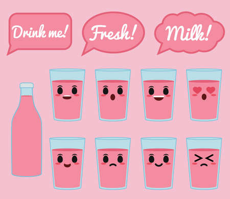 Strawberry milk character