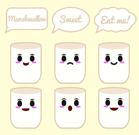 Marshmallow character 矢量图像