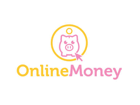 Online bank 矢量图像