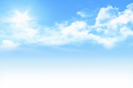 light blue sky with white gradient