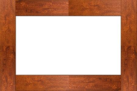 photgraphy: isolated wood frame on white background