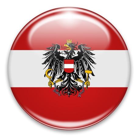 autrian flag button isolated on white photo