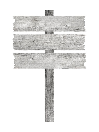 signpost with three planks isolated on white Stock Photo - 15161230