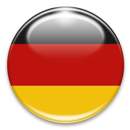 german flag button isolated on white photo