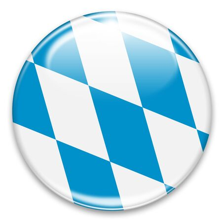 lozenge: bavarian flag button isolated on white