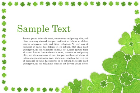 card with cloverleafs Stock Photo - 15295849