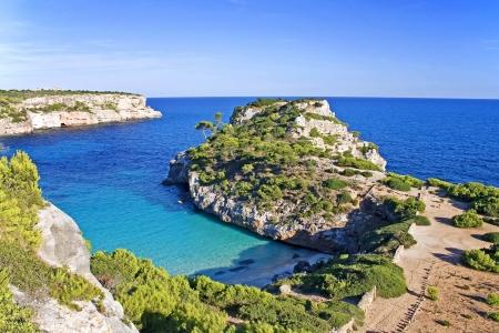 des: idyllic bay Cala d�es Moro on the isle Majorca