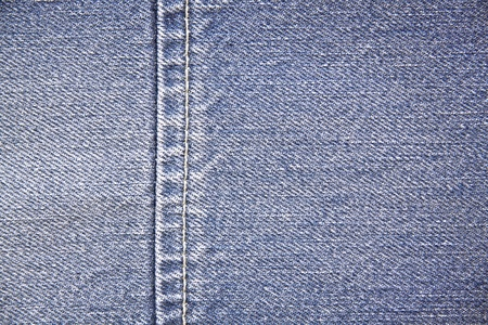 seam of a blue jeans photo