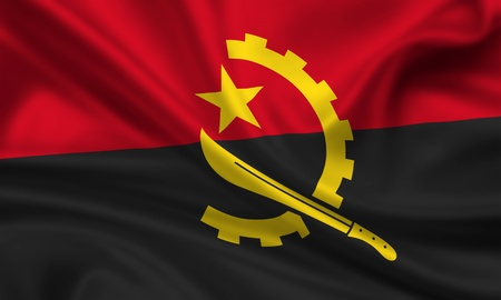 waving flag of angola photo