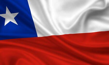 bandera chilena: bandera que agita de Chile