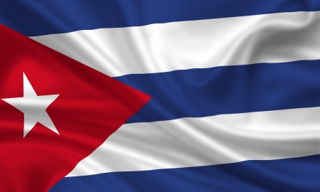 waving flag of cuba Stock Photo - 15250955