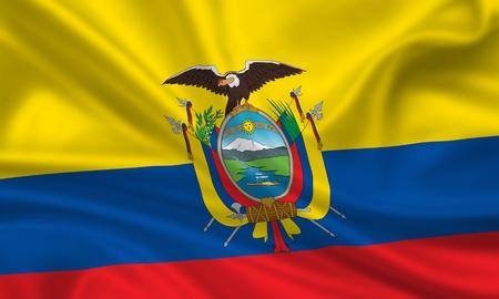 waving flag of ecuador Stock Photo - 15250997