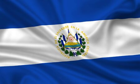 waving flag of el salvador Stock Photo - 15250965
