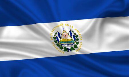 waving flag of el salvador Stock Photo - 15250965