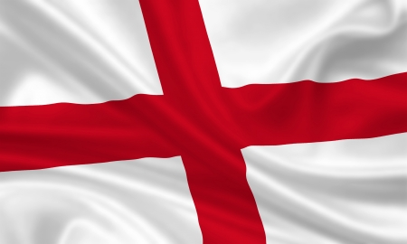 waving flag of england Banque d'images