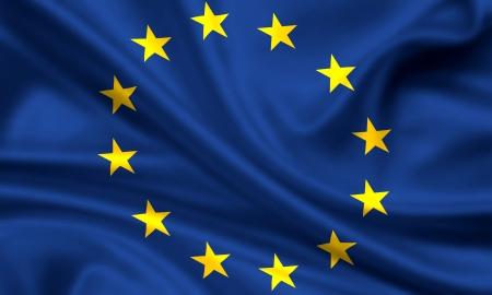 waving flag of europe