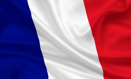 waving flag of france Banque d'images