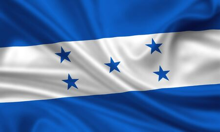 waving flag of honduras photo