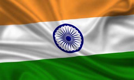 waving flag of india photo