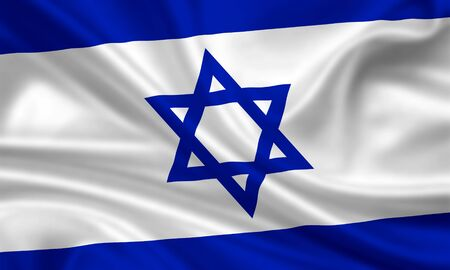 waving flag of israel photo