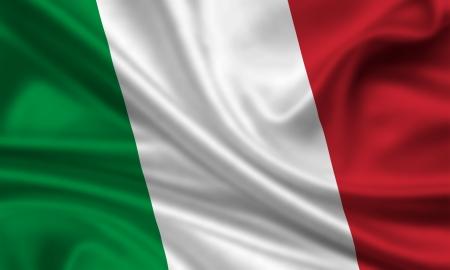 italy flag: waving flag of italy Stock Photo