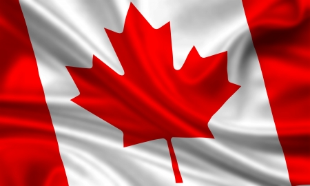 canadian state flag: waving flag of canada Stock Photo