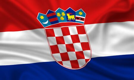 bandera que agita de Croacia photo