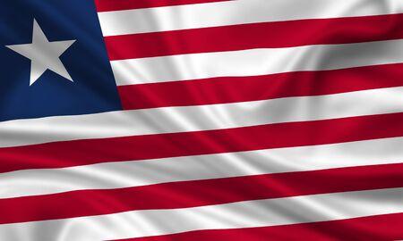 waving flag of liberia Stock Photo - 15251133