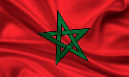 waving flag of morocco Stock Photo