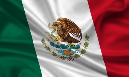bandera de mexico: bandera que agita de México