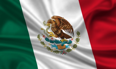 waving flag of mexico photo