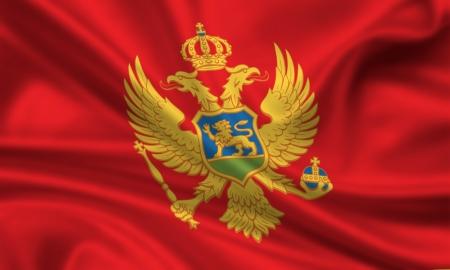 waving flag of montenegro photo