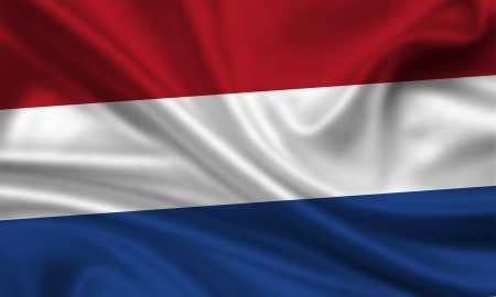waving flag of the netherlands