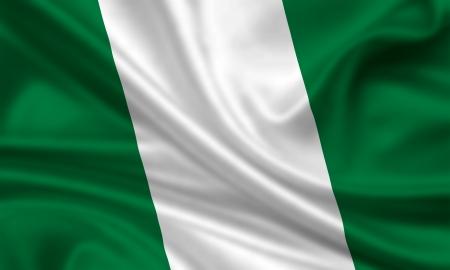 nigeria: waving flag of nigeria