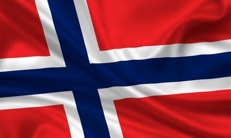 waving flag of norway photo