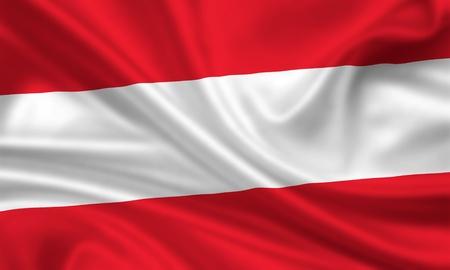 wapperende vlag van oostenrijk Stockfoto