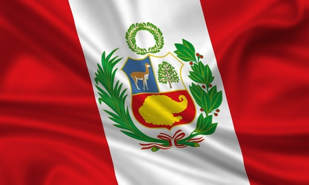 waving flag of peru